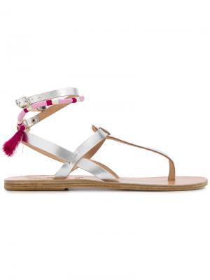 Сандалии Estia Ancient Greek Sandals. Цвет: металлический