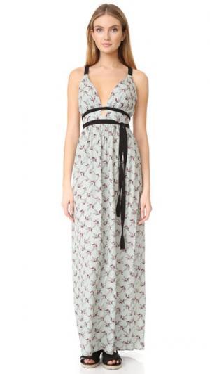 Платье Port Henry с перекрещенными бретельками WAYF. Цвет: цветок шалфея