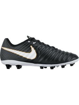 Бутсы TIEMPO LIGERA IV AG-PRO Nike. Цвет: черный, белый, золотистый
