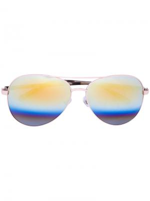 Солнцезащитные очки-авиаторы Matthew Williamson. Цвет: металлический