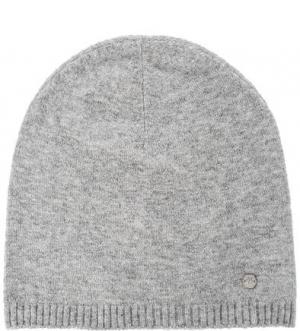 Серая шапка мелкой вязки Marc O'Polo. Цвет: серый