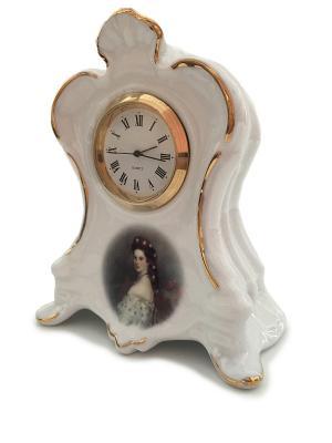 Часы настольные принцесса СиСи Reutter Porzellan. Цвет: белый, золотистый