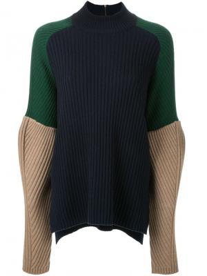 Colour block jumper Muveil. Цвет: синий