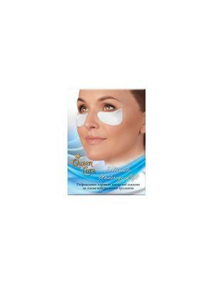 Гидрогелевая лифтинг маска под глазами из натурального морского коллагена Queen Care. Цвет: белый