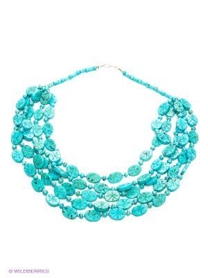 Ожерелье ГАНГ. Цвет: бирюзовый