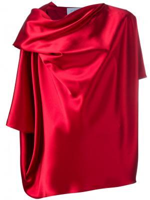 Драпированная блузка Gianluca Capannolo. Цвет: красный