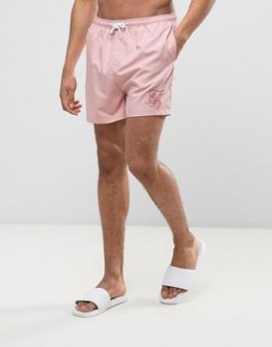 SikSilk Розовые шорты для плавания. Цвет: розовый