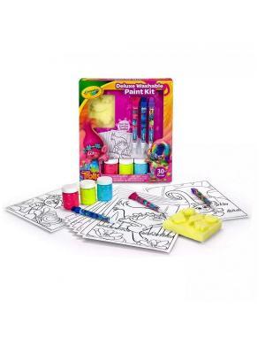Набор с красками Тролли Делюкс Crayola. Цвет: желтый