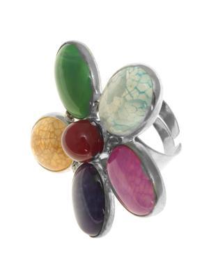 Кольцо Nina Ford. Цвет: зеленый, серебристый, фиолетовый