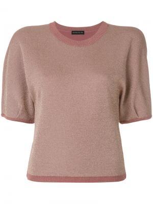 Свитер с короткими рукавами Etro. Цвет: розовый и фиолетовый