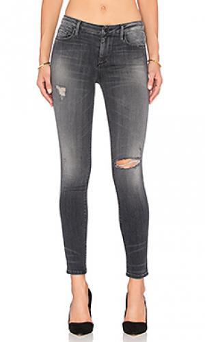 Супер узкие джинсы средней посадки jude Black Orchid. Цвет: none