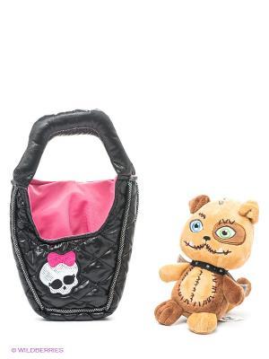Плюшевый питомец - Собака  Безымянный в сумочке, 14 см Monster High. Цвет: бежевый