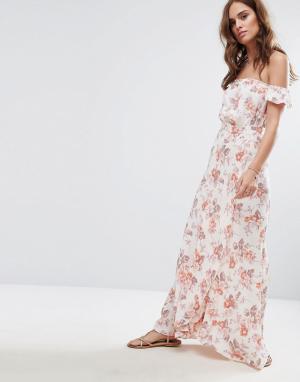 Flynn Skye Платье макси с принтом Bella. Цвет: мульти