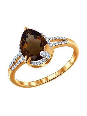 Кольцо SOKOLOV. Цвет: золотистый, коричневый