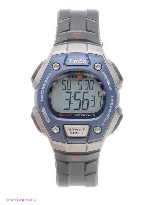 Часы TIMEX. Цвет: серый, серо-голубой
