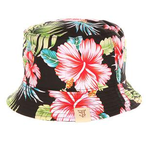 Панама  Las Flores Bucket Hat Black TrueSpin. Цвет: черный,зеленый