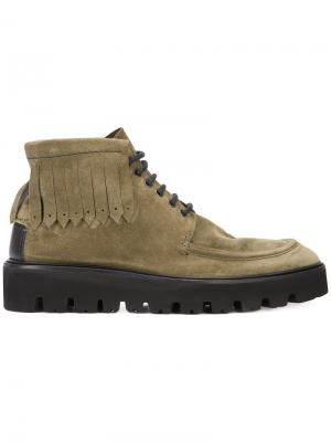 Ботинки Arne Paul Andrew. Цвет: зелёный