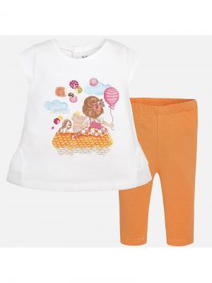 Комплект одежды Mayoral. Цвет: оранжевый