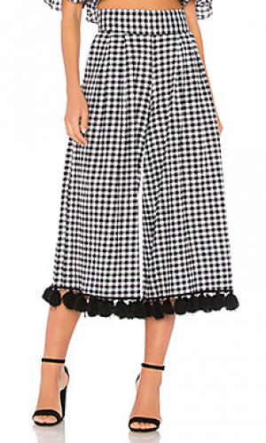 Укороченные брюки klavy MISA Los Angeles. Цвет: black & white