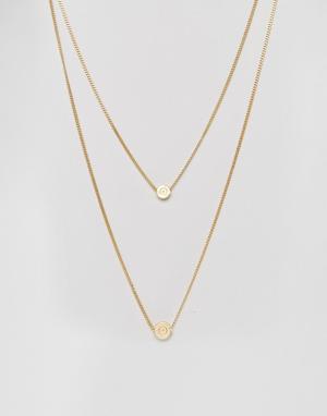 Love Bullets Двойное ожерелье с подвесками в виде пули Lovebullets. Цвет: золотой