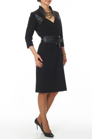 Платье с японским поясом Argent. Цвет: черный