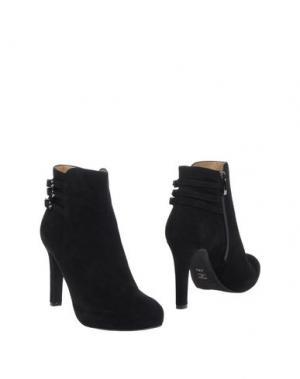 Полусапоги и высокие ботинки VALERI. Цвет: черный