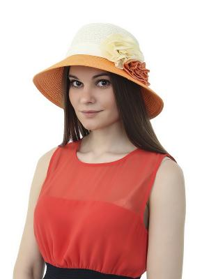 Шляпа Gusachi. Цвет: белый, оранжевый
