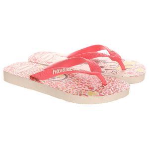 Вьетнамки детские  Minnie Beige/Pink Havaianas. Цвет: бежевый,розовый