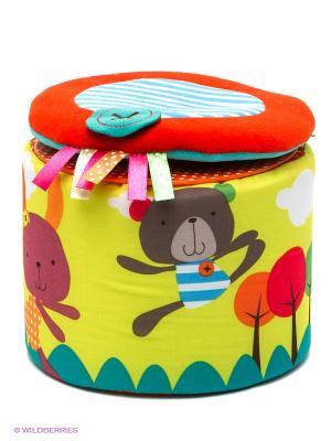 Развивающая игрушка bobby&friends. Цвет: красный, бирюзовый, салатовый