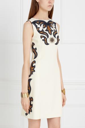 Платье А-силуэта Fausto Puglisi. Цвет: белый, разноцветный