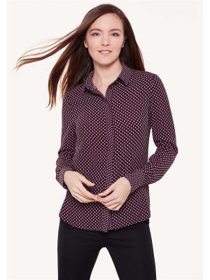 Блузка ZARINA. Цвет: фиолетовый
