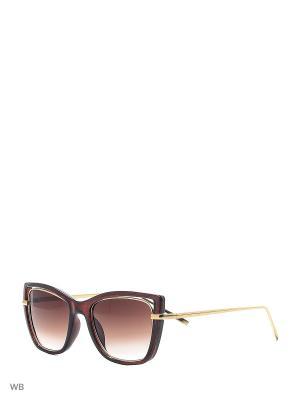 Солнцезащитные очки Vittorio Richi. Цвет: коричневый, золотистый