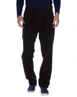 Повседневные брюки COTTON BELT. Цвет: темно-коричневый