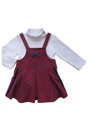 Комплект SONI KIDS. Цвет: белый, красный