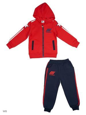 Толстовка с капюшоном и брюки Sago Kids i Ant Domain. Цвет: красный, синий