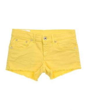 Джинсовые шорты DONDUP DQUEEN. Цвет: желтый
