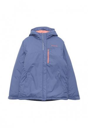 Куртка утепленная Columbia. Цвет: голубой