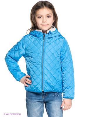 Куртка Button Blue. Цвет: голубой