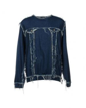 Джинсовая рубашка ANDREA CREWS. Цвет: синий