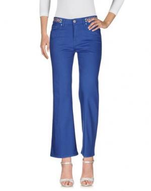 Джинсовые брюки DON'T CRY. Цвет: ярко-синий
