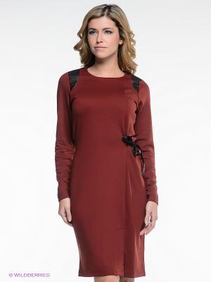 Платье Pura. Цвет: терракотовый