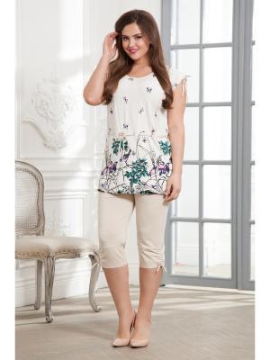 Комплект одежды CLEO. Цвет: молочный, бежевый