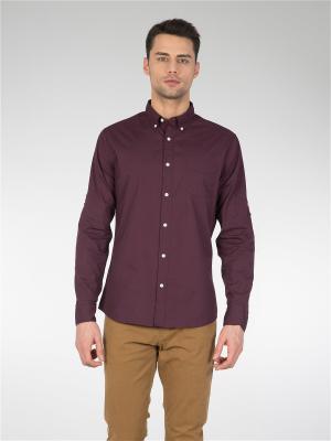 Рубашка Colin's. Цвет: бордовый