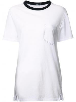 Объемная футболка Bassike. Цвет: белый
