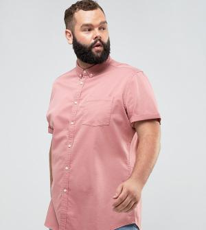 ASOS Розовая эластичная джинсовая рубашка узкого кроя PLUS. Цвет: розовый