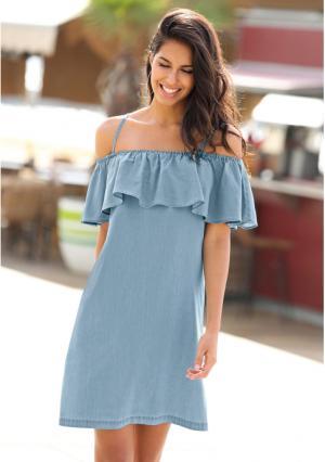 Платье Venca. Цвет: синий (голубой)