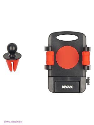 Держатель телефона/смартфона с кнопкой фиксации зажима HT-WIIIX-01Vr на вентиляцию WIIIX. Цвет: черный