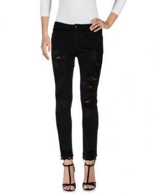 Джинсовые брюки CAROLINA WYSER. Цвет: черный
