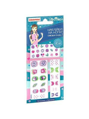 Наборы для творчества от BONDIBON и EVA MODA,наклейки на ногти с глитером Сияющая сказка.. Цвет: зеленый, розовый