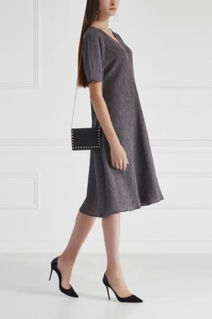 Однотонное платье Cyrille Gassiline. Цвет: серый